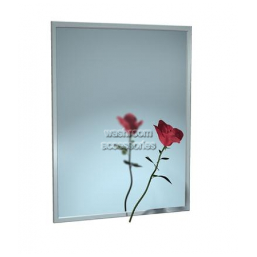 View 0620V Channel Frame Glass Mirror with Vinyl Backing details.