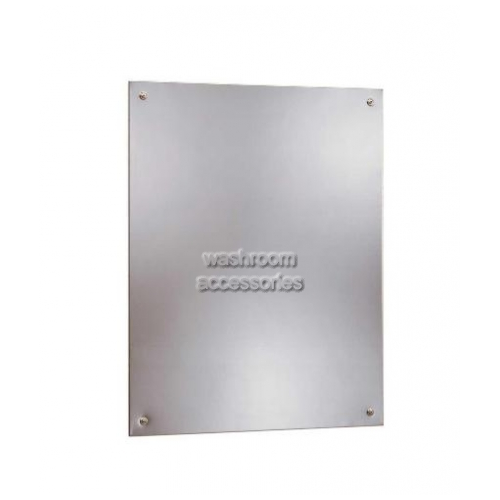 View B1556 Polished Steel Mirror Frameless details.