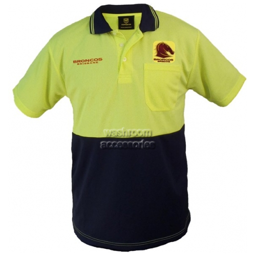 View Hi-Vis Short Sleeve Polo Yellow details.