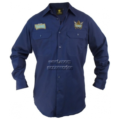 View Titans Long Sleeve Work Shirt Navy details.