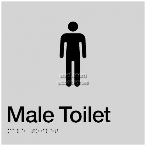 View MT Male Toilet Sign with Braille details.