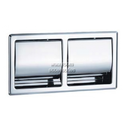 View 5128 Dual Toilet Roll Dispenser, Recessed details.