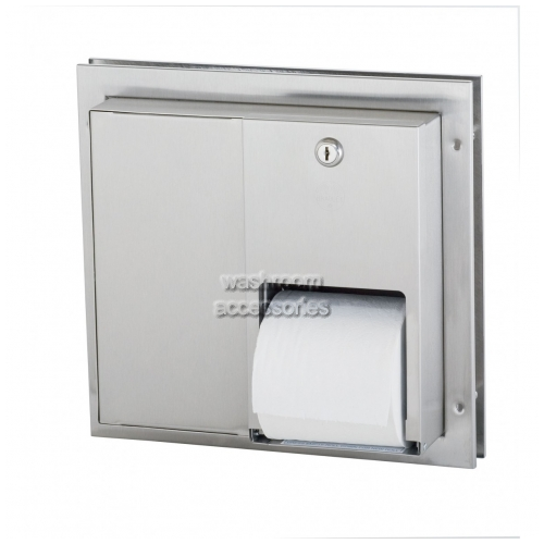 View 5422 Dual Toilet Roll Dispenser, Recessed details.