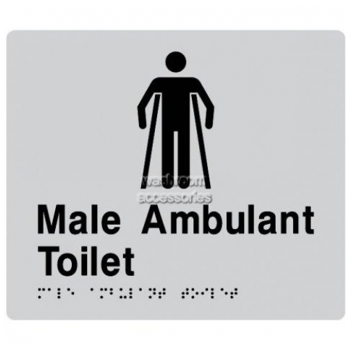 View MAT Male Ambulant Toilet Sign with Braille details.