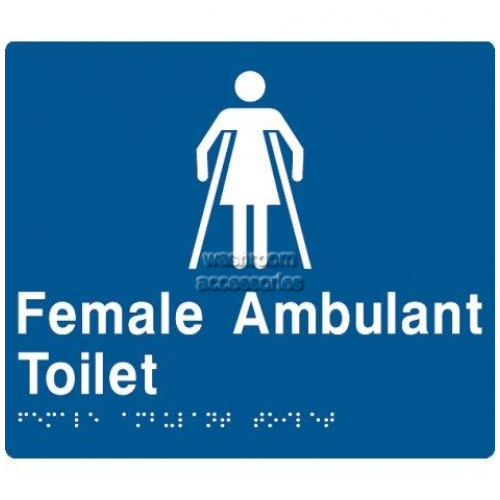 View FAT Female Ambulant Toilet with Braille details.