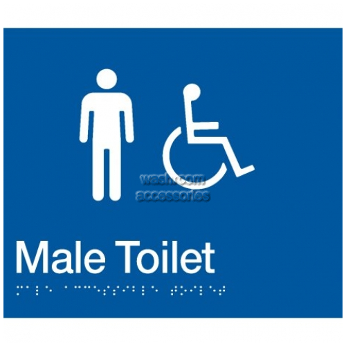 View MDT Male Accessible Toilet Sign with Braille details.
