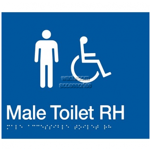 View MDTRH Male Accessible Toilet Right Hand Sign with Braille details.