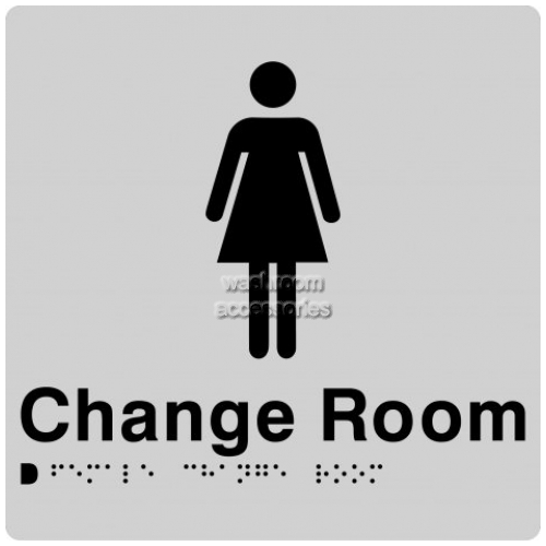View FCR Female Change Room Sign with Braille details.
