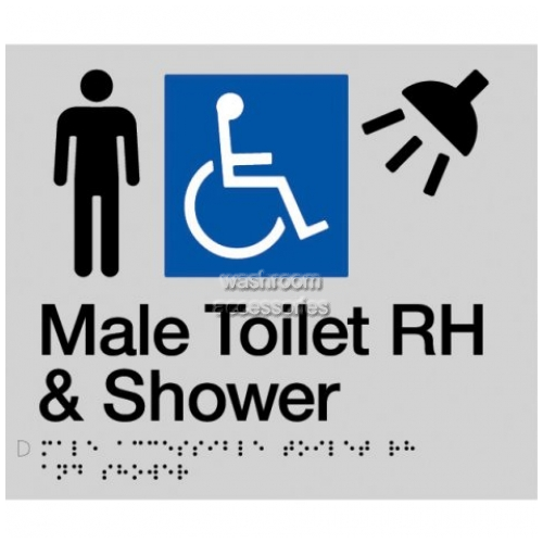 View MDTSRH Male Accessible Toilet Right Hand and Shower Braille details.
