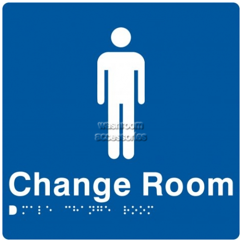 View MCR Male Change Room Sign with Braille details.