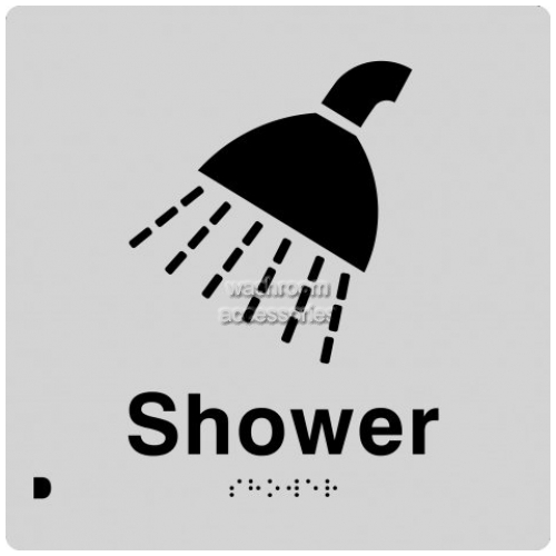 View Shower Sign with Braille details.
