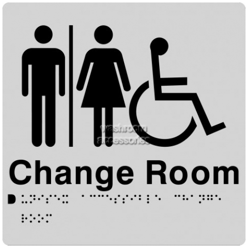 View MFDCR Unisex Accessible Change Room Sign with Braille details.