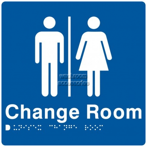 View MFCR Unisex Change Room Sign with Braille details.