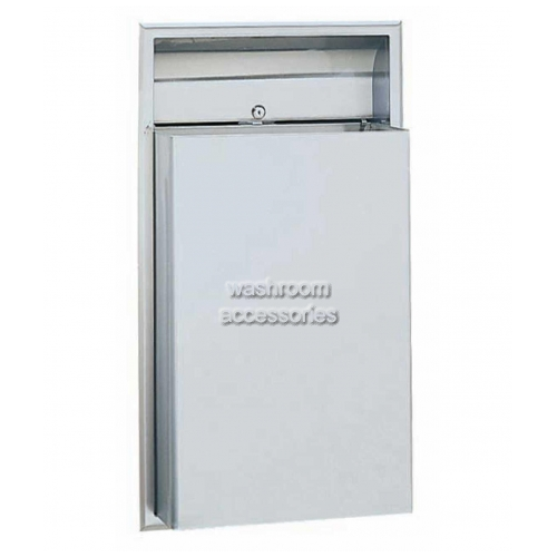 View B3644 Waste Receptacle 45L Recessed details.