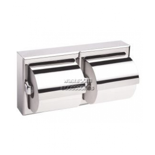 View B6999 Double Toilet Tissue Dispenser with Hoods details.