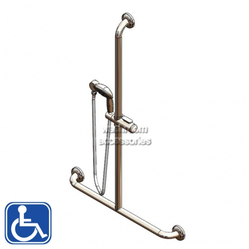 View SGR027 Shower Rail Set, Hand Held Shower and Smooth Hose details.