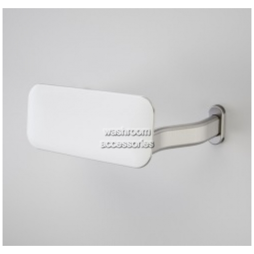 White Backrest with Curved Arm