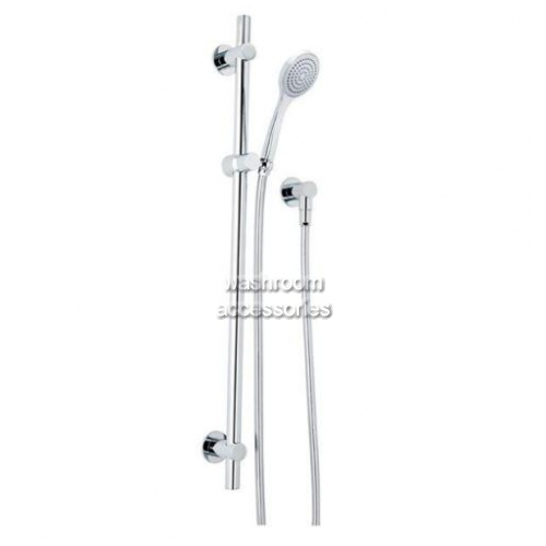 View HS020T Streamjet Turbo Shower Head on Rail details.
