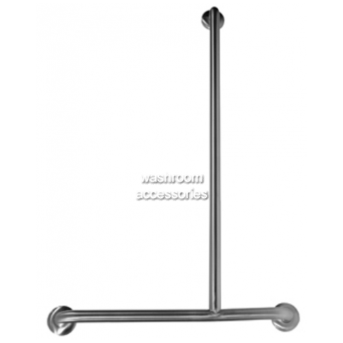 View Shower Grab Rail Inverted T Bar 700mm x 1100mm details.