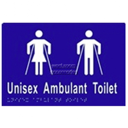 View ML16304 Braille Sign, Unisex Ambulant Toilet details.