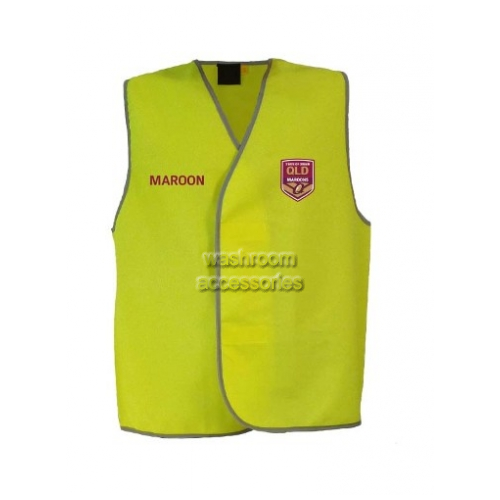 View QLD Maroons Hi-Vis Light Weight Vest Yellow details.