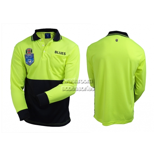 View NSW Blues Hi-Vis Polo Long Sleeve details.