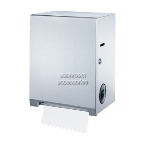 View B2860 Roll Towel Dispenser Surface Mounted details.