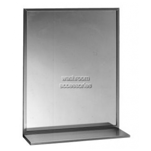 View B166 Glass Mirror with Shelf Combination details.