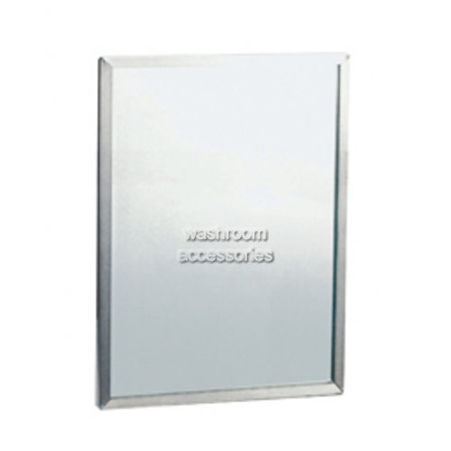 View ML771 Safety Glass Mirror with Stainless Steel Framing details.