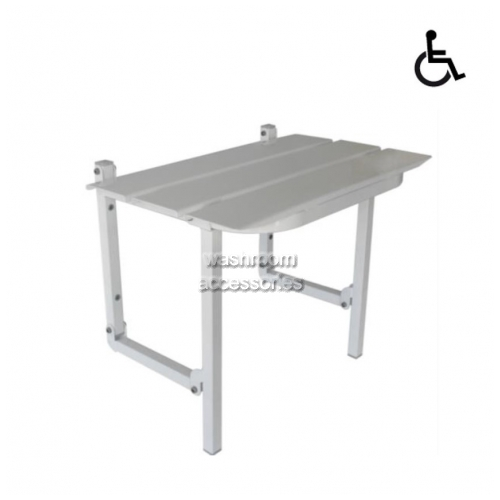 View SS960A Folding Shower Seat Slatted Accessible Compliant details.