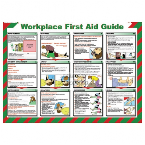 View Workplace Safety Poster - Workplace First Aid Guide details.
