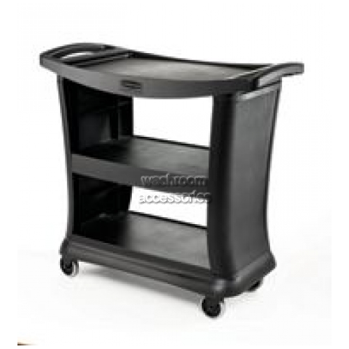 View 9T68 Service Cart with Quiet Castors, 3-Shelf details.