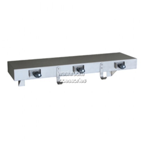 View ML982 Utility Shelf with 3 Mop Holders, 2 Rag Hooks details.