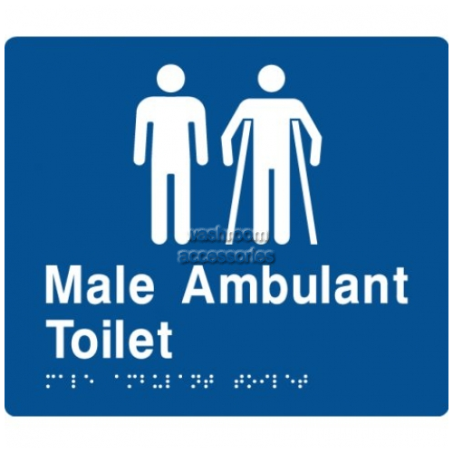 View MMAT Toilet and Male Ambulant Toilet Sign with Braille details.