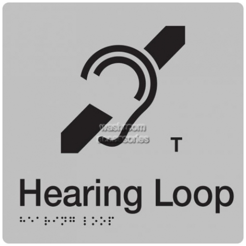 View HL Hearing Loop Sign with Braille details.