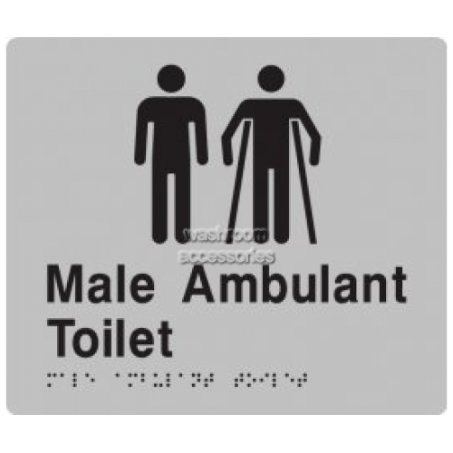 View MMAT Male Toilet and Male Ambulant Toilet Sign with Braille details.
