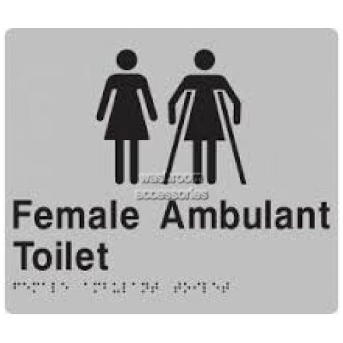 View FFAT Female Toilet and Female Ambulant Toilet Sign Braille details.