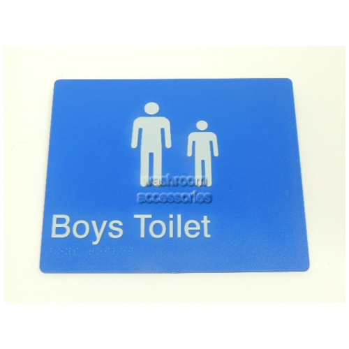 View Boys Toilet Sign with Braille details.