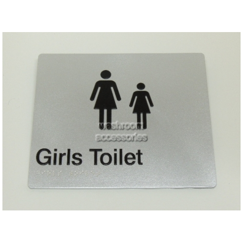 View Girls Toilet Sign with Braille details.