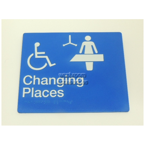 View CP Changing Places Sign with Braille details.