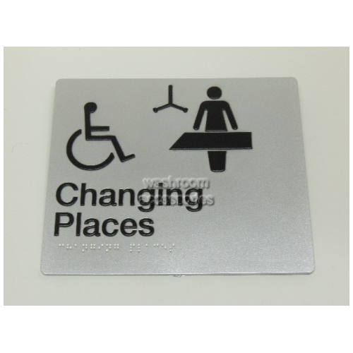 View CP-SILVER Changing Places Sign Silver details.