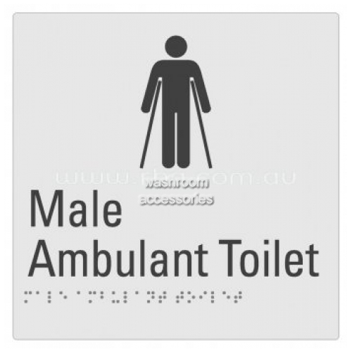 View Braille Sign RBA4330-822 Male Ambulant Toilet details.
