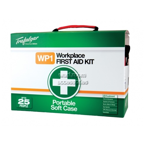 View Portable Workplace First Aid Kit Soft Case details.