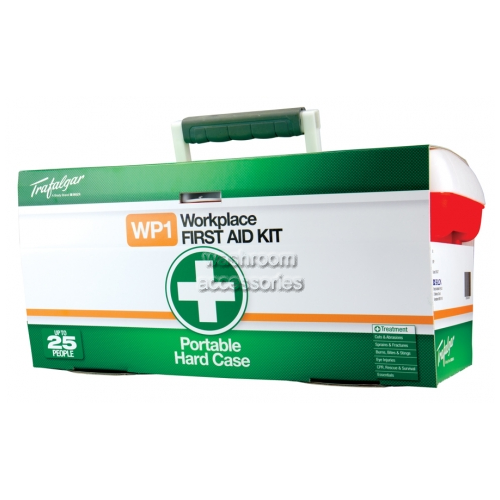 View Portable Workplace First Aid Kit- Hard Case details.