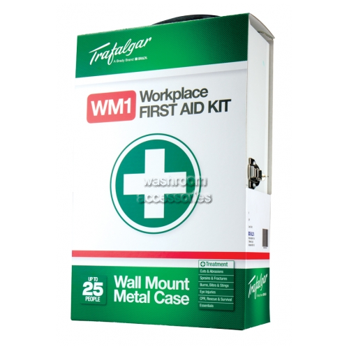 View Wall Mounted Workplace First Aid Kit in Metal Case details.