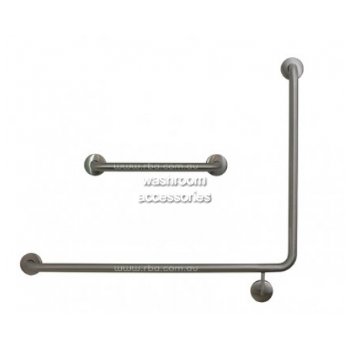 View Toilet Grab Rail Set, 90 Degree and 450mm Straight details.