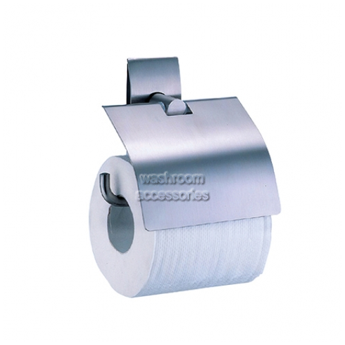 View 6899 Single Toilet Roll Holder with Lid details.