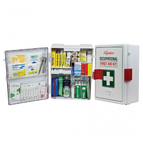 National Workplace Wall Mount ABS Plastic Case First Aid Kit