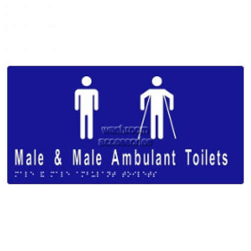 View ML16246A Braille Sign, Male and Male Ambulant Toilet details.