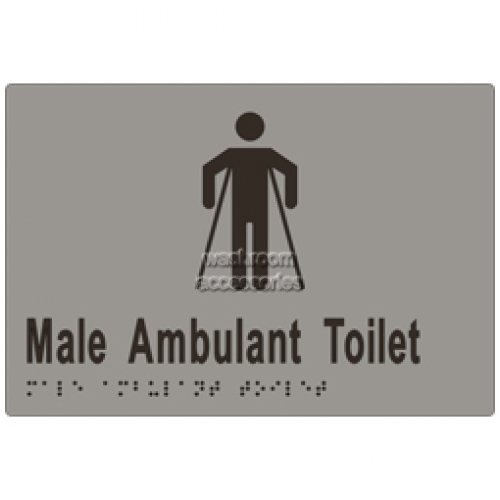 View ML16246 Braille Sign, Male Ambulant Toilet details.